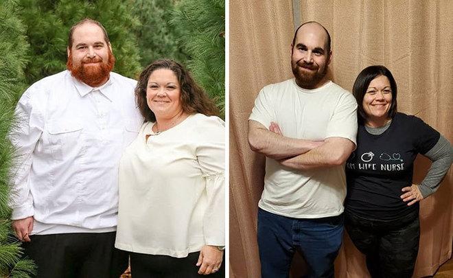 Casal emagrece quase 150 kg junto e impressiona com antes e depois