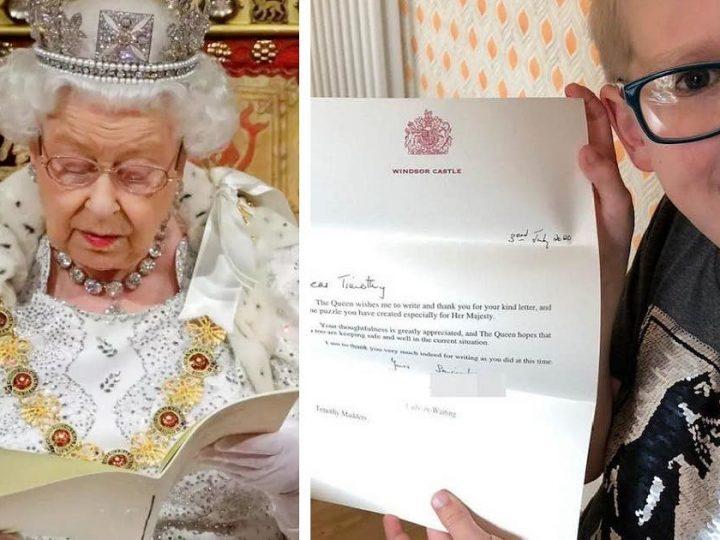 Garotinho cria jogo para entreter a rainha Elizabeth na quarentena e recebe carta de agradecimento