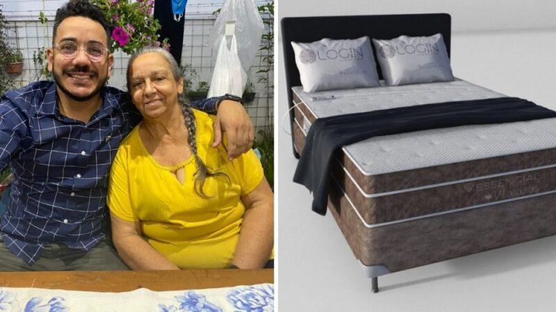 Após ver sofrimento da mãe, brasileiro cria colchão para pessoas com fibromialgia e dor lombar