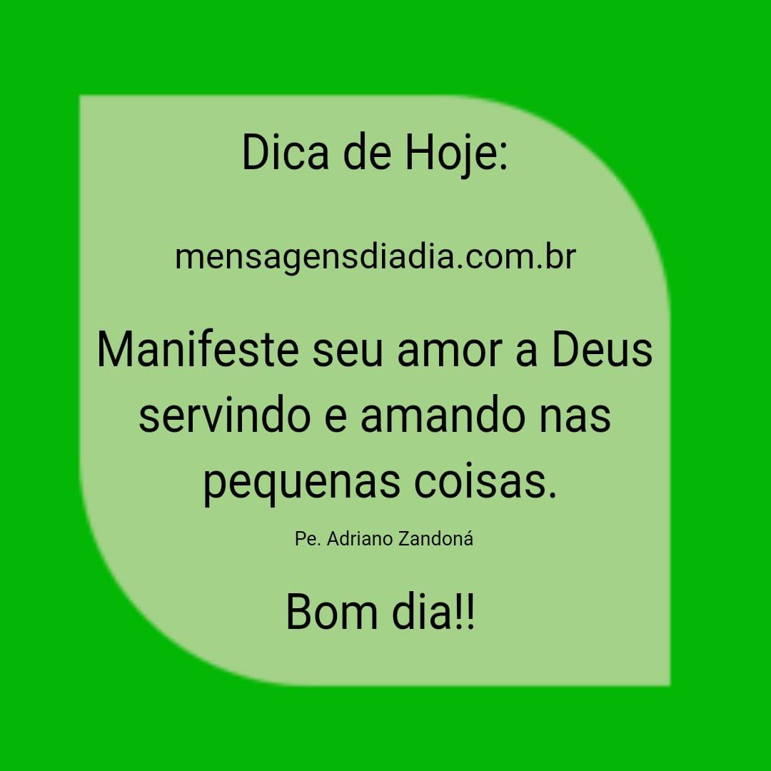 Manifeste seu amor a Deus…