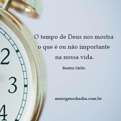 O agir do tempo de Deus em sua vida…